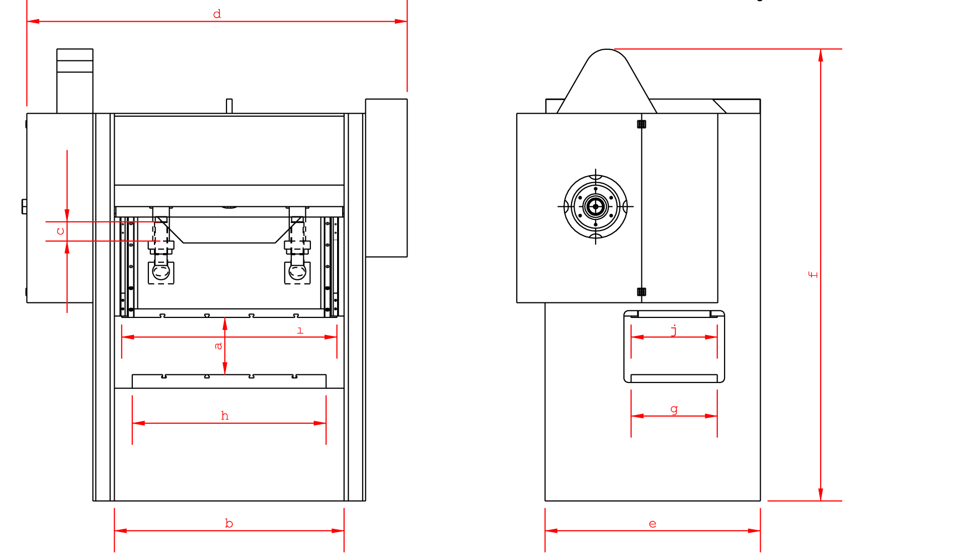 H Type Mechanical Press Technical Specifications drawing design layout