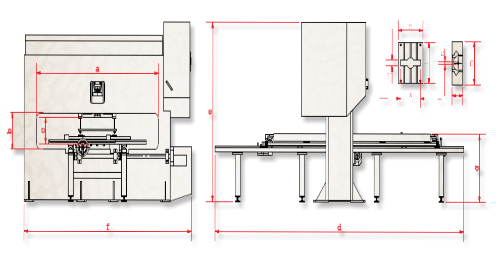 Hole Punching Perforation Press Technical Specifications drawing design layout