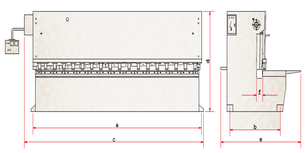 Hydraulic Guillotine Shear Technical Specifications Drawing Design