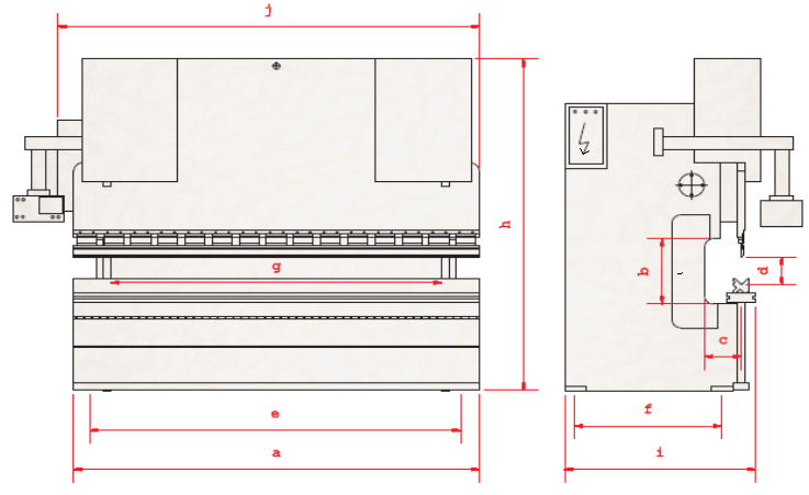 Hydraulic Press Brake Technical Specifications Technical Drawing layout design